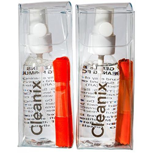 Spray Nettoyant 60 ml avec Chiffon de Nettoyage en Microfibre pour Lunettes,  Ecrans, Surfaces 7ab4603ccff1