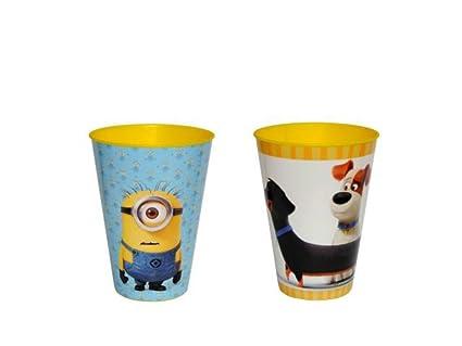 """Lote de 30 Vasos de Pasta Infantiles """"Minnions-Mascotas"""" Surtidos. Vajillas"""