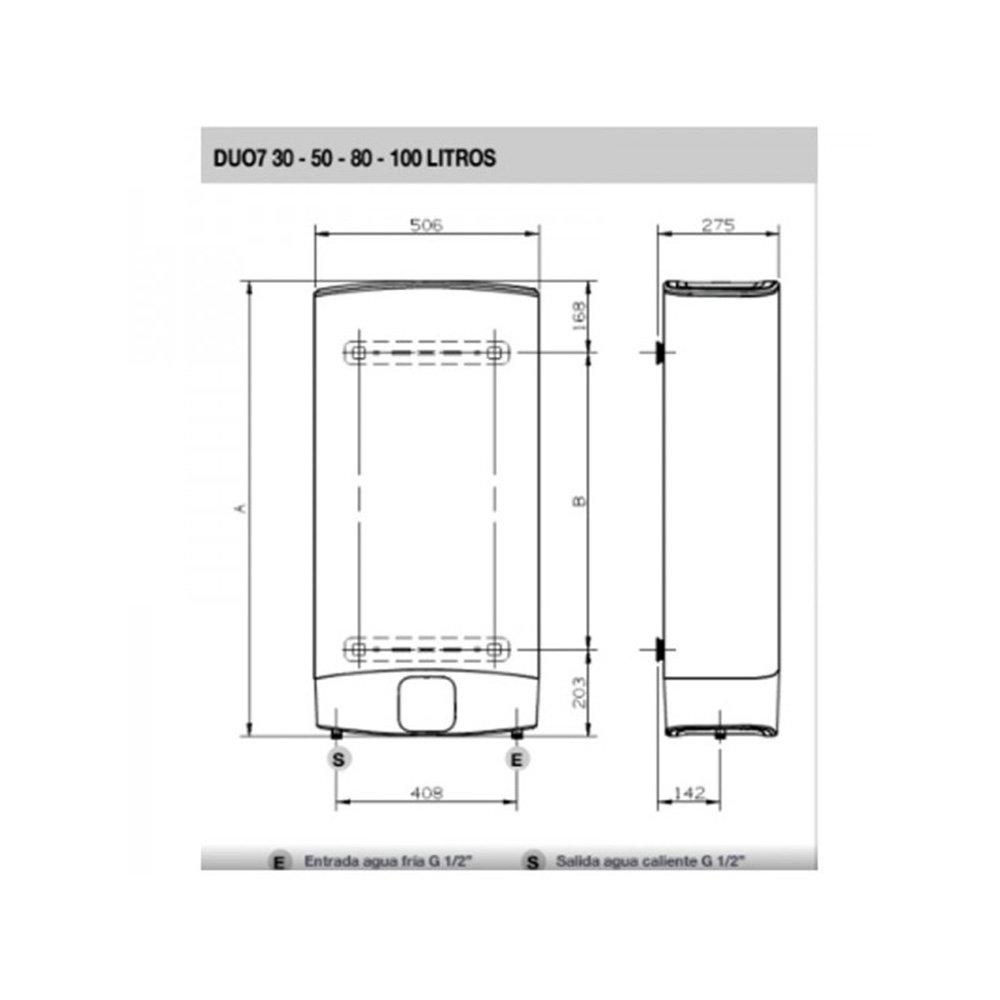 Fleck duo - Termo electrico duo5-100-eu 100l clase eficiencia energetica b\b \m: Amazon.es: Bricolaje y herramientas