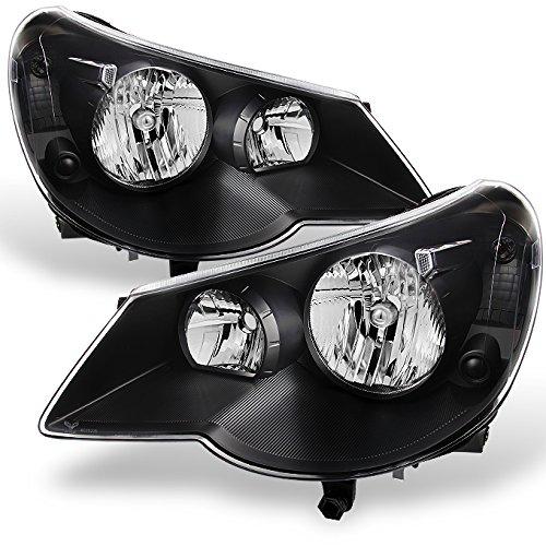 For Chrysler Sebring 4Dr Sedan Black Bezel Replacement Headlights Headlamp Front Lamps Left+Right Pair