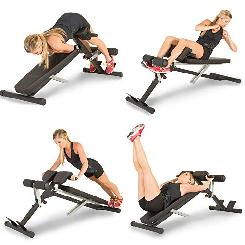 Fitness Reality X-Class Light Commercial Multi-Workout Abdominal/Hyper Back Extension Bench (Best 20 Min Ab Workout)