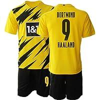 TAOZHUANG 20/21 Niños HAALAND 9# Camiseta de fútbol Camiseta de Jugador (Niños de 4 a 13 años)