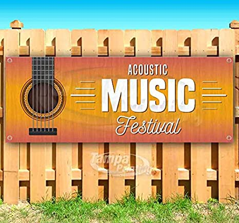 Advertising Store New Acoustic Music Festival 13 oz Heavy Duty Vinyl Banner Sign with Metal Grommets Flag, Many Sizes Available