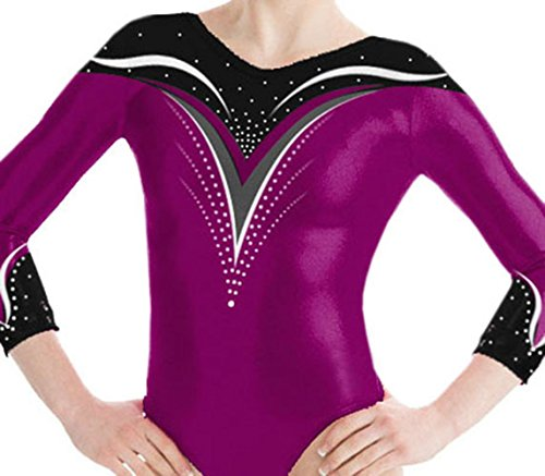 Demi Gymnastics Leotard with Rhinestone TL049 (AME, Berry)