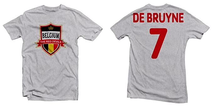 new concept 8a3cd a1b45 Belgium The Red Devils Hero Tee: Kevin De Bruyne Printed Tee