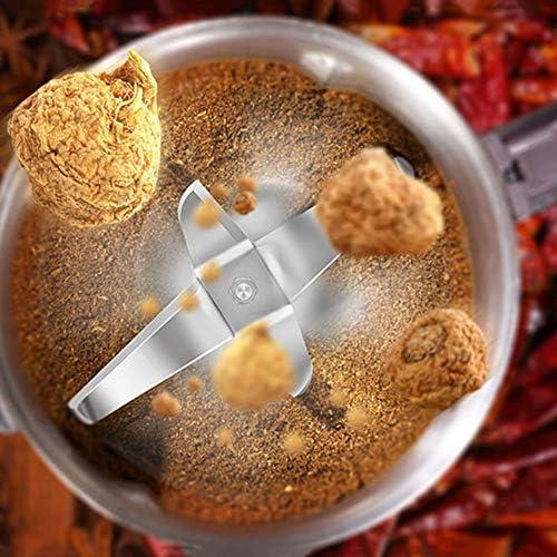 ZHAS Amoladora eléctrica Hogar Medicina Herbaria China Molino Grano Mezclado Polvo máquina Cinco Molino seco tamaño: 135 * 135 * 260 mm Blender