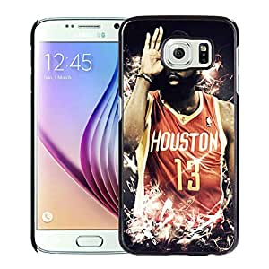 Unique Custom Designed Cover Case For Samsung Galaxy S6 With Houston Rockets James Harden 4 Black Phone Case