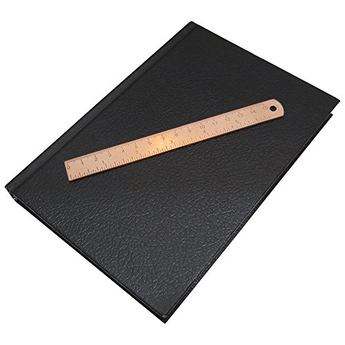 6 Inch Brass Ruler - Etched Markings - Durable Tiny Ruler, Ideal for Bullet Journals, Notebooks, Planners, Diaries And As a Bookmark. Fits in Inner Pocket - Marked with IN and CM/MM (Rose Brass)