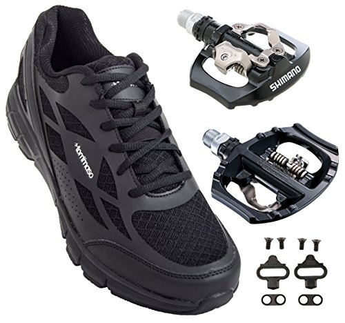 Tommaso Milano Men's Commuter/Spin Bike Cycling Shoe Black w/ A530 Pedals and Cleats where can i order 7aWdC2