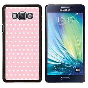 Stuss Case / Funda Carcasa protectora - Motif de papier peint rose de coeur - Samsung Galaxy A7 A7000