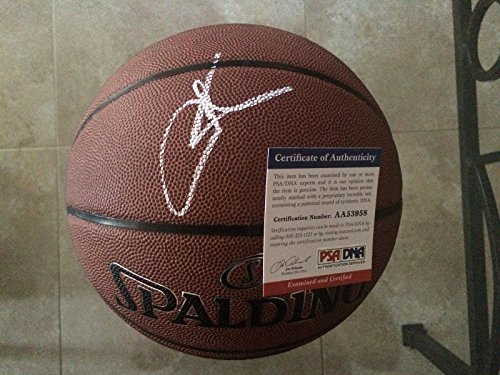 Carmelo Anthony Autographed Basketball - Star - PSA/DNA Certified - Autographed Basketballs (Carmelo Anthony Autographed Basketball)