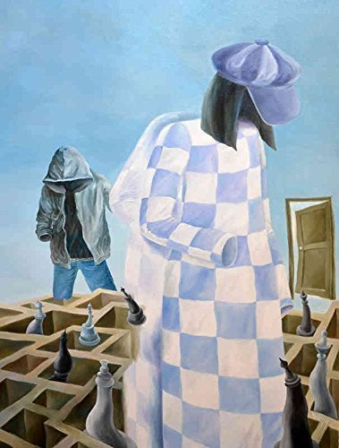 Faceless - Checkmate - Original, Abstract, Surreal Art, - Painting Checkmate