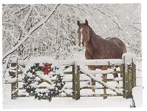 OSW Horse with Wreath Light up Picture with 6 Hour Timer