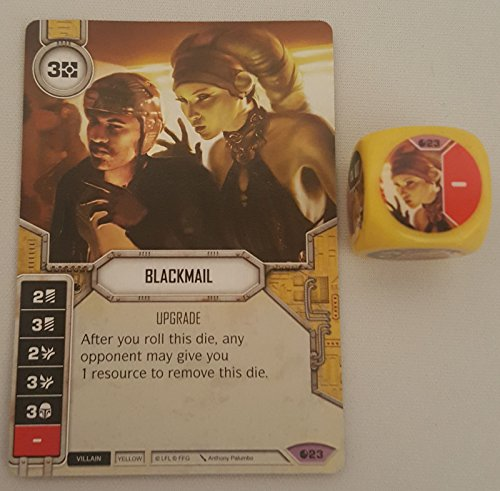 Star Wars Destiny Spirit of Rebellion (Legendary) Blackmail Card (#23) & Die (Star Wars Destiny Spirit Of The Rebellion)