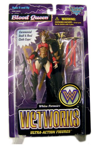 BLOOD QUEEN with Ceremonial Staff & Real BLACK cloth cape Whilce Portacio's Wetworks Ultra-Action Figures