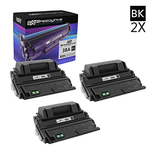 Speedy Inks - 3PK Compatible Replacement for HP 38A Q1338A Black Laser Toner Cartridge for use in HP LaserJet 4200, 4200dtns, 4200n, 4200tn, 4200dtn, - Hp 4200tn Printer
