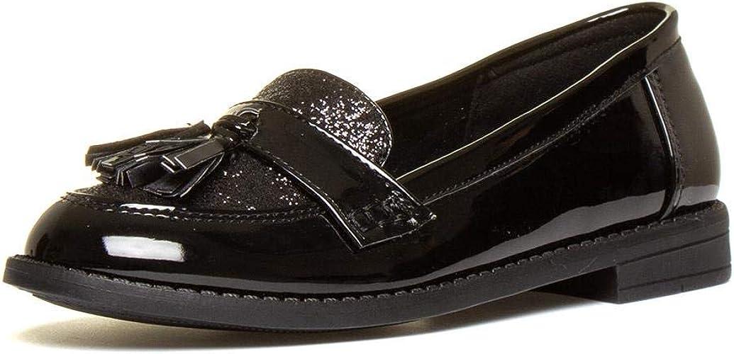 Lilley Girls Black Patent Loafer Shoe