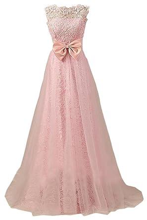 Abendkleider lang spitze rosa
