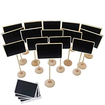 Amazon.com : Mini Chalkboard, 15 Pcs Mini Chalkboards with ...