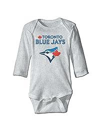 2016 Playoff Toronto Blue Jays Logo Romper Jumpsuit Ash Kids Baby