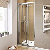 iBathUK 800mm Bifold Easy Clean 6mm Glass Shower Enclosure Reversible Folding Door