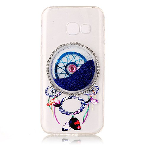 LuckyW Silicone Case for Samsung Galaxy A5 2017 Phone Case Dreamcatcher Sandblasting Fluid [Scratch-resistant, dust-proof, shockproof, anti-fingerprint]-Rosa Azul