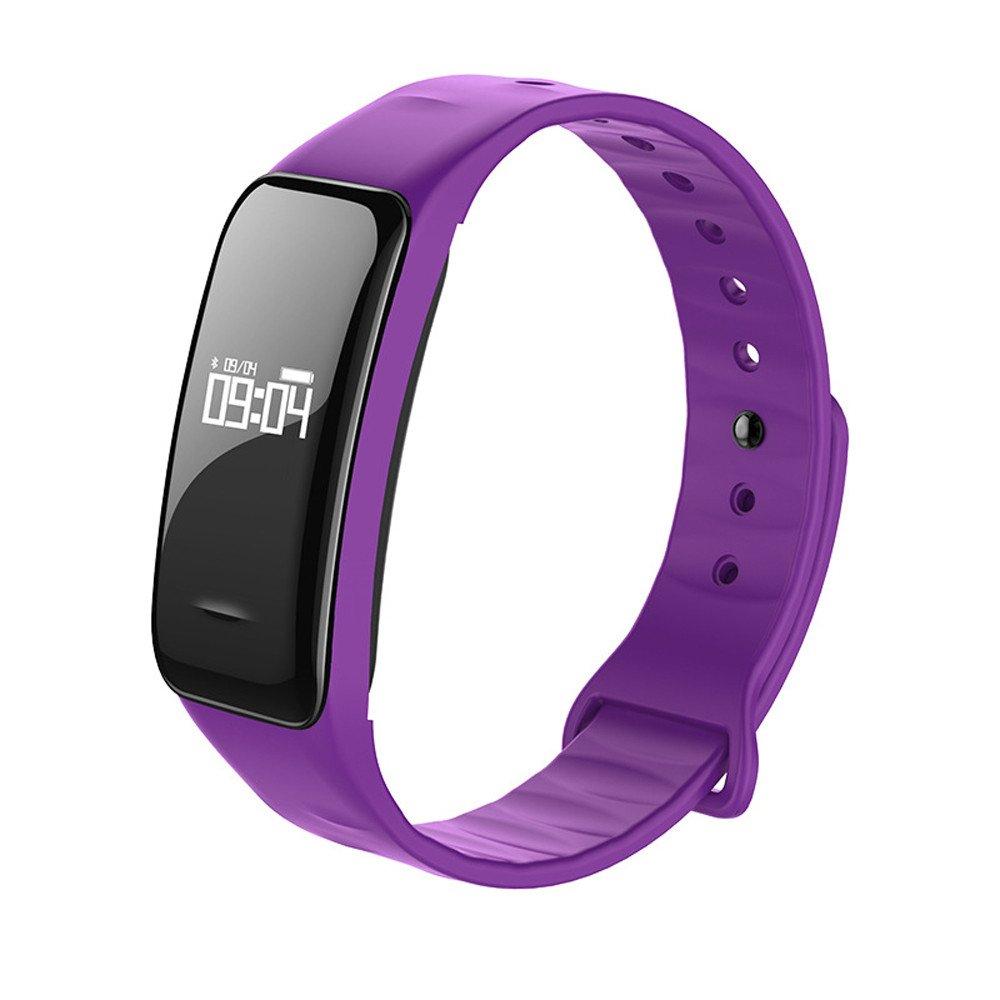 Cebbay Reloj Inteligente Pulsera Actividad Inteligente para Deporte Monitor de sueño,Podómetro,Calendario,Control Remoto de música Pulsera Actividad para ...