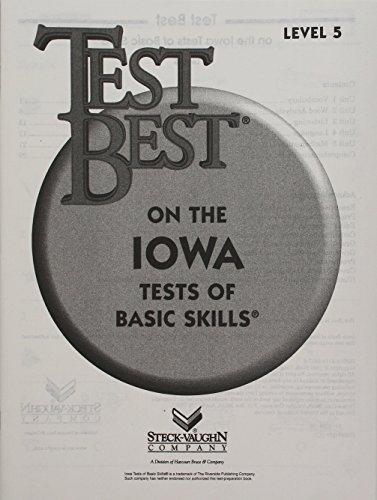 Test Best ITBS: Test Workbook  Grade K (Level 5)