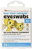 Petkin Pet Eye & Tear Stain Swabs, 24-Count (Pack of 6)