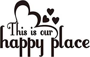 This is Our Happy Place Family Wall Decal Love Quote Vinyl Wall Lettering Home Decor Wall Art
