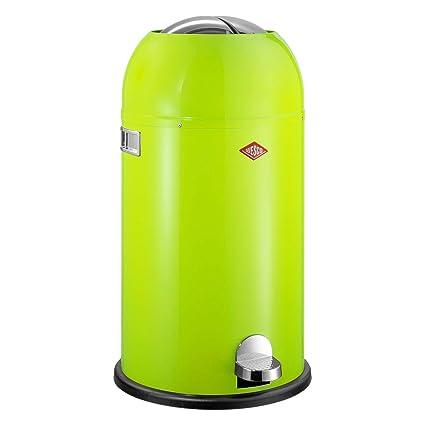Wesco Kickmaster 33 Liter Zilver.Wesco Kickmaster 33l Waste Bin Lime Green
