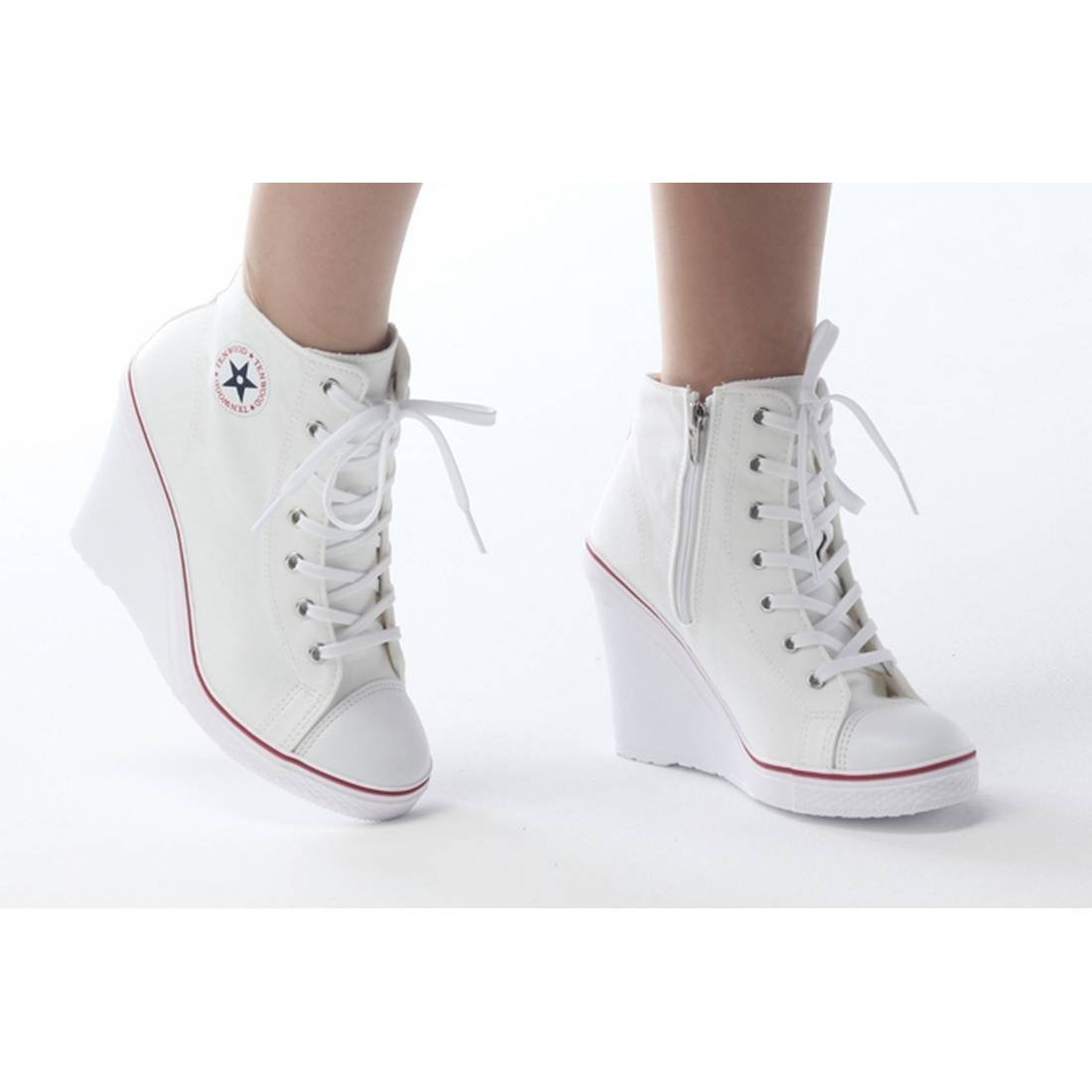 539c3e09150 ... EpicStep Women s Canvas High Top Top Top Wedges High Heels Casual  Fashion Sneakers B00XTVJXI2 7 B ...