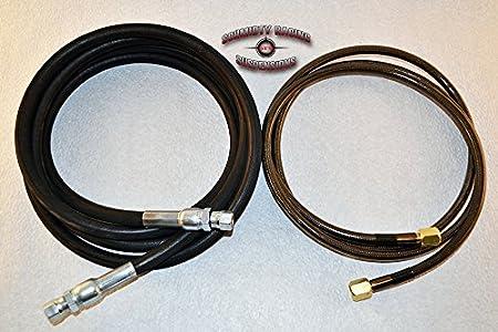 Nitrogen Regulator Shock Fill Kit Hose Stainless 6