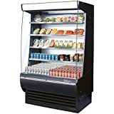 Turbo Air TOM48DX 48 Extra Deep Display Merchandiser with Automatic Condenser Cleaning System Advertising Panel Anti-Rust Coating Back-Guard and Attractive Glass Sides: