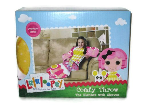 Lalaloopsy Crumbs Sugar Cookie Comfy Throw Blanket with Sleeves Designer -