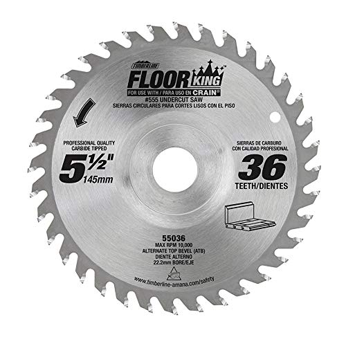 - Floor King 55036 comparable to Crain 556, 5-1/2 Dia x 36T x 22.22mm Bore for 555 Crain Undercut Saw.