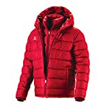 Fuerza Mens Winter Down Wellon Special Collection Hooded Double Layer Parka Jacket - Red - Medium