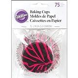 Wilton Pink Zebra Standard Baking Cups, 75 Count