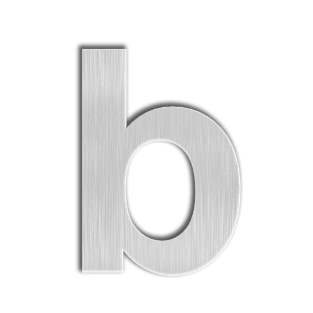 Qt modern house number extra large 10 inch brushed stainless steel letter b floating appearance easy to install and made of solid 304 amazon com
