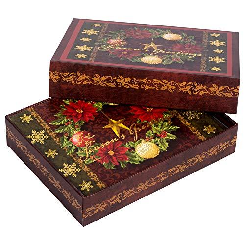 Divinity Boutique Boxed Card-Season's Greetings Wreath (Pk 18)