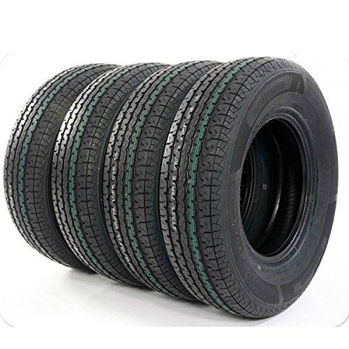 Tires Atv Trailer (Pack of 4 ST225/75R15 Trailer Tires 10 Ply Load Range E Radial Tire 2257515)