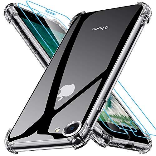 🥇 Joyguard Funda iPhone SE 2020[ 2*Protector de Pantalla de Vidrio Templado ]