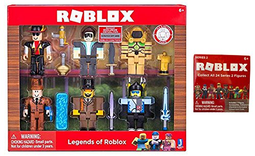 Legend of Roblox Toy Set - Includes Legends of Roblox Set + Roblox Series 2 Mystery Box Blind Bag ()