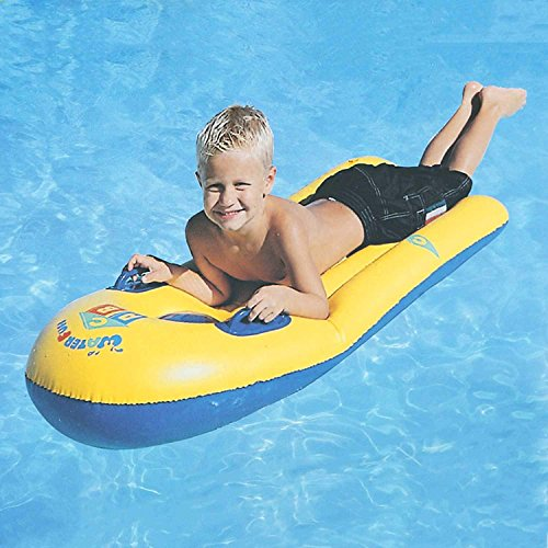 Inflatable Pool Float for Kids Children, Infant Baby Floats Swim Air Bed PVC Swimming Raft Bodyboard Fun Party Floating Mattress Surf Board With Handles Boys Girls Water Lounger Floats Sea Beach Toy by Greenery-GRE