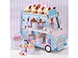 Talking Tables Street Stalls Ice Cream Food Cart Street Stall for Party Decoration, Multicolor