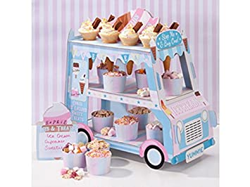 Talking Tables decoración en forma de Camino de helado mini. Perfecto para mostrar dulces, pasteles y caramelos en el centro de la mesa para una fiesta.