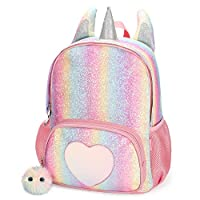 Mibasies Kids Unicorn Backpack for Girls Rainbow School Bag