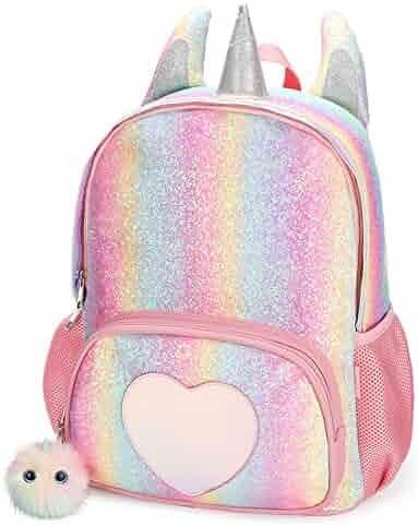 CMK Kids Unicorn Backpack for Girls Rainbow School Bag