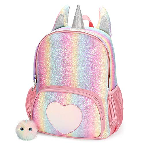 CMK Kids Unicorn Backpack for Girls Rainbow School Bag]()