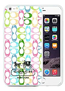 Coach 14 White iPhone 6 Plus 5.5 inch Screen TPU Cover Case Luxurious And Beautiful Style